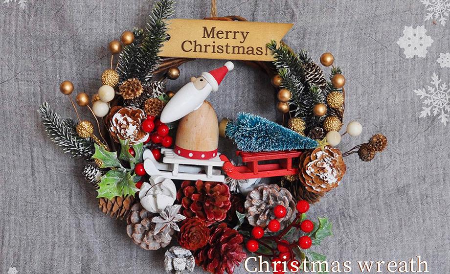 サンタクロースのクリスマスリース講座